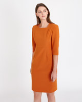 orange Paul Costelloe Living Studio Sicilia Dress