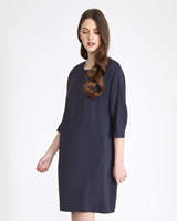 navy Paul Costelloe Living Studio Viscose Dress