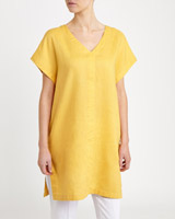 ochre Paul Costelloe Living  Studio Linen Tunic Dress