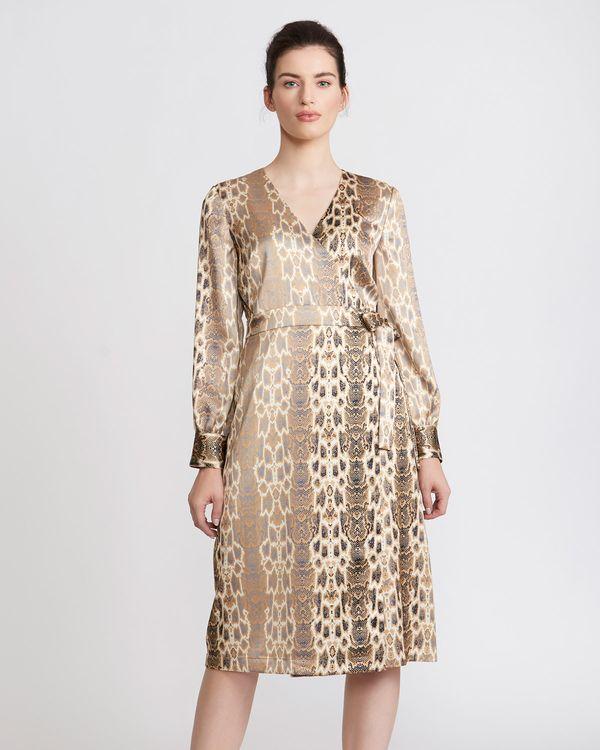 Paul Costelloe Living Studio Satin Wrap Dress