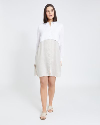 Paul Costelloe Living Studio Collar Linen Dress