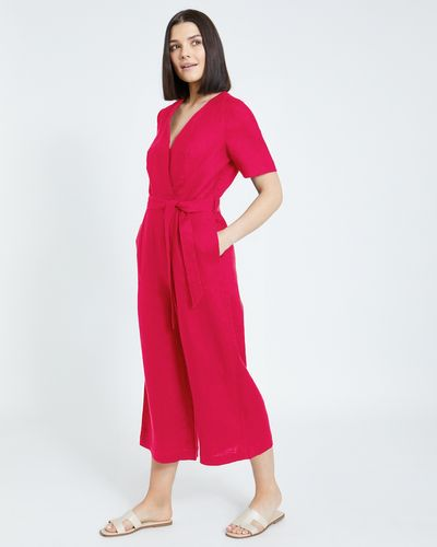 Paul Costelloe Living Studio Pink Linen Jumpsuit