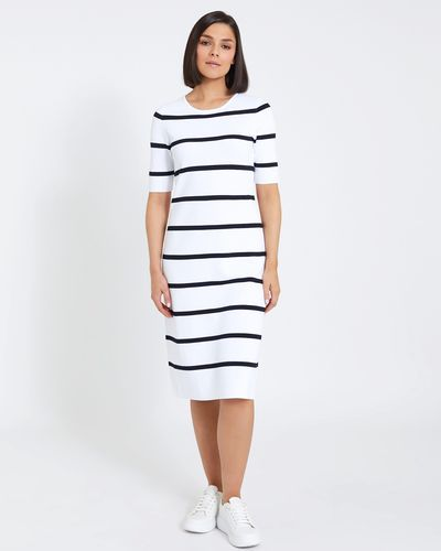 Paul Costelloe Living Studio Stripe Knit Dress
