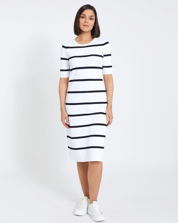Paul Costelloe Living Studio Stripe Knit Dress