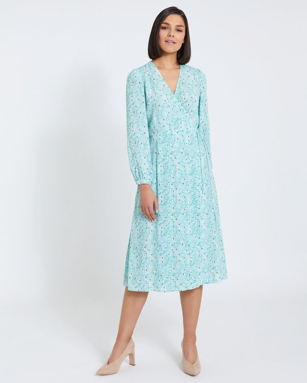 Paul Costelloe Living Studio Print Wrap Dress