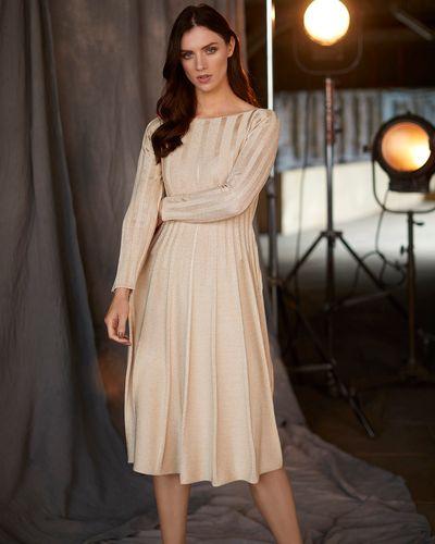 Paul Costelloe Living Studio Champagne Lurex Dress