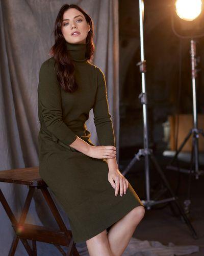 Paul Costelloe Living Studio Green Polo Tie Dress