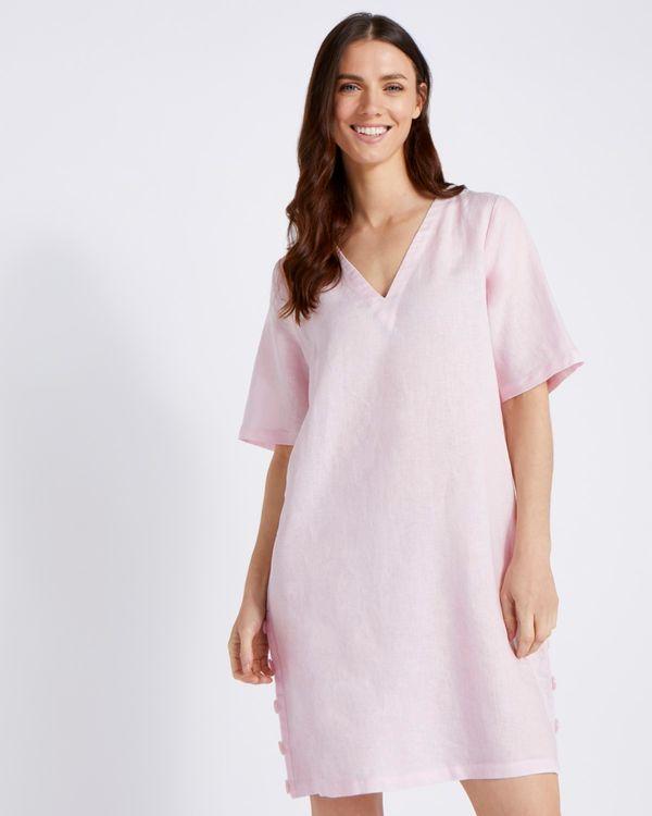 Paul Costelloe Living Studio 100% Linen Blush Button Tunic