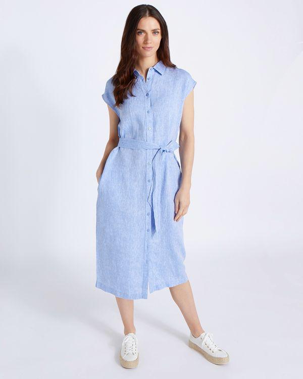 Paul Costelloe Living Studio 100% Linen Tie Waist Dress