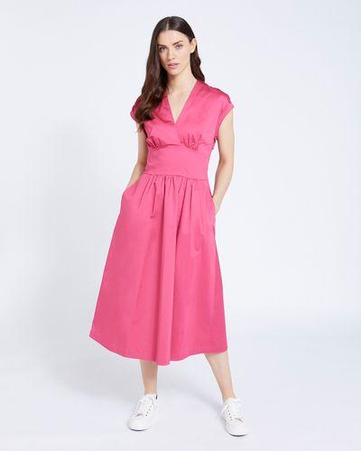 Paul Costelloe Living Studio Pink Poplin Dress