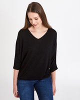 black Paul Costelloe Living Studio Belle Batwing Jumper