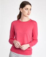 coral Paul Costelloe Living Studio Merino Crew-Neck Jumper