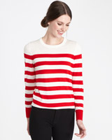red Paul Costelloe Living Studio Merino Stripe Jumper