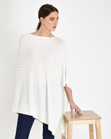 cream Paul Costelloe Living Studio Luxury Cable Poncho