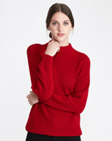 red Paul Costelloe Living Studio Ribbed Jumper