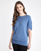 blue Paul Costelloe Living Studio Boat Neck Sweater