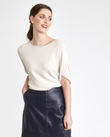 blush Paul Costelloe Living Studio Boat Neck Sweater