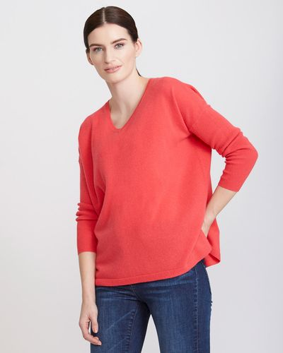 Paul Costelloe Living Studio Cashmere V-Neck thumbnail