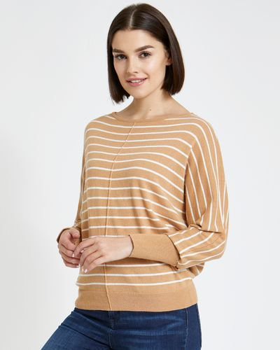 Paul Costelloe Living Studio Stripe Batwing Jumper thumbnail
