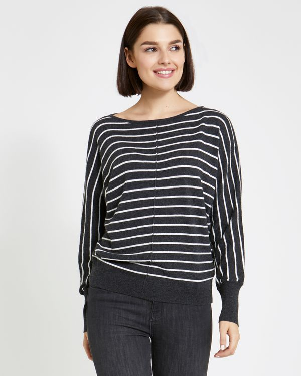 Paul Costelloe Living Studio Stripe Batwing Jumper