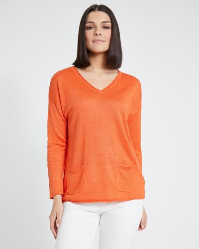 Paul Costelloe Living Studio Pocket Sweater
