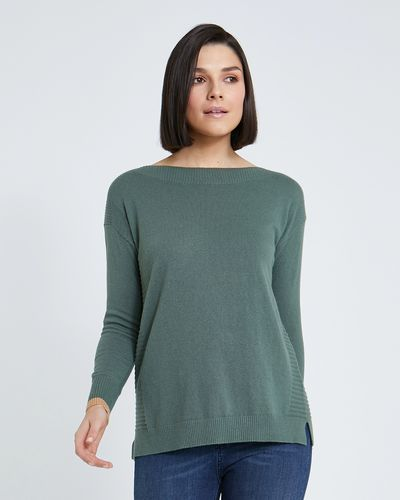 Paul Costelloe Living Studio Ribbed Boat Neck Jumper