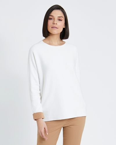 Paul Costelloe Living Studio Cotton Cashmere Crew Neck Jumper thumbnail