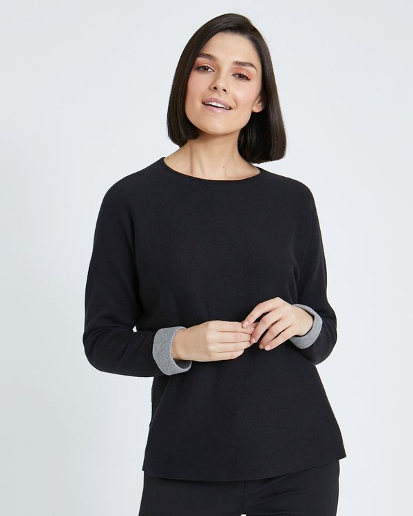 Paul Costelloe Living Studio Cotton Cashmere Blend Crew Neck Jumper