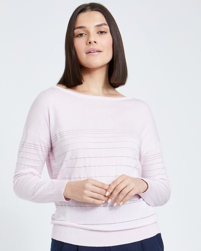 Paul Costelloe Living Studio Pink Sheer Stripe Jumper