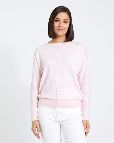 Paul Costelloe Living Studio Pink Two Tone Batwing Jumper