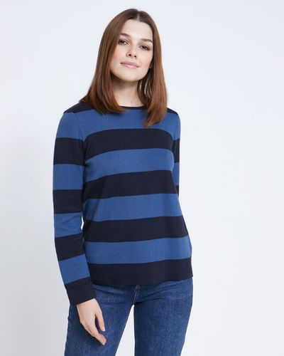 Paul Costelloe Living Studio Stripe Crew-Neck Jumper