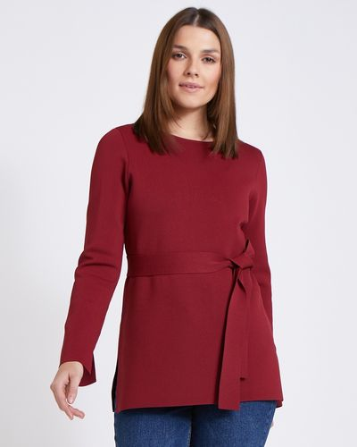 Paul Costelloe Living Studio Red Tie Waist Jumper
