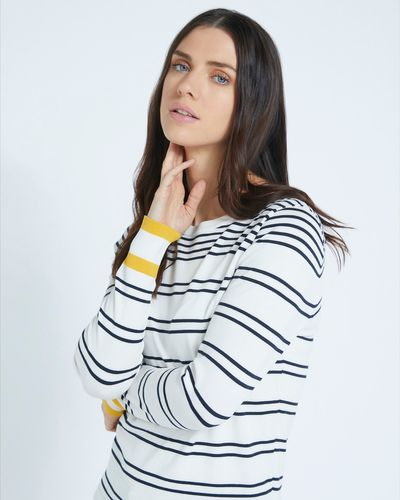 Paul Costelloe Living Studio Stripe Silk Blend Jumper