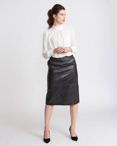 Paul Costelloe Living Studio Leather Skirt thumbnail