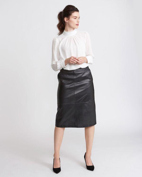 Paul Costelloe Living Studio Leather Skirt