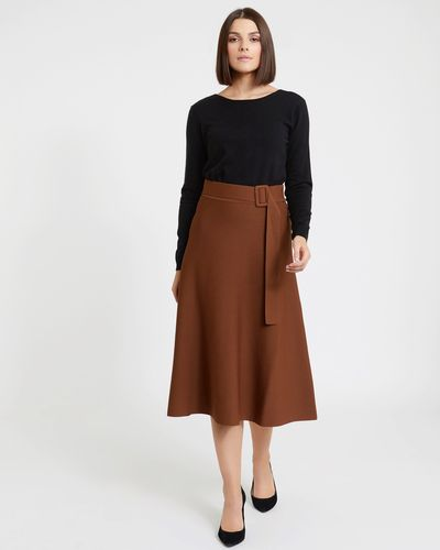 Paul Costelloe Living Studio Viscose Belt Skirt