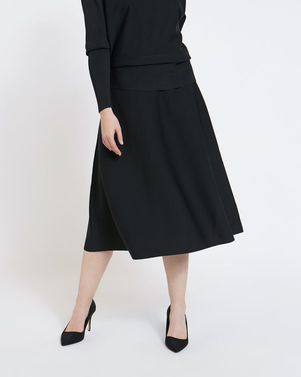 Paul Costelloe Living Studio Black Knit Skirt