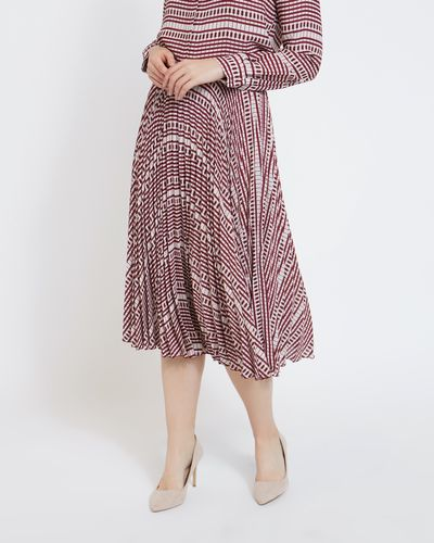 Paul Costelloe Living Studio Square Print Skirt