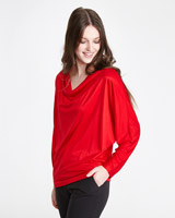 red Paul Costelloe Living Studio Mercerised Cowl Neck Top