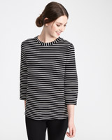 black-white Paul Costelloe Living Studio Ottoman Stripe Top