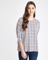 multi Paul Costelloe Living Studio Print Viscose Top