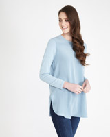 light-blue Paul Costelloe Living Studio Silk Crew Top
