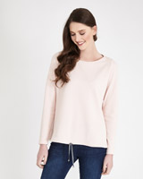 blush Paul Costelloe Living Studio Waffle Sweater