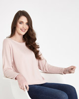 blush Paul Costelloe Living Studio Boat Neck Top