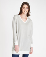 light-grey Paul Costelloe Living Studio Lurex Sweater