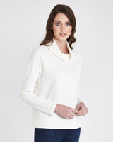 cream Paul Costelloe Living Studio Luxury Cowl Top