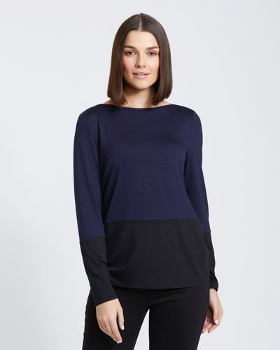 Paul Costelloe Living Studio Slash Neck Top thumbnail