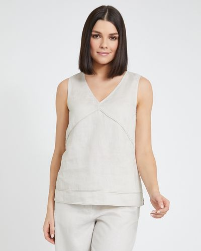 Paul Costelloe Living Studio Linen Stone Vest
