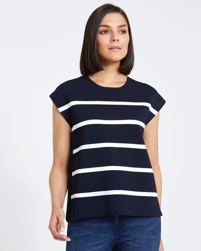 Paul Costelloe Living Studio Stripe Knit Top