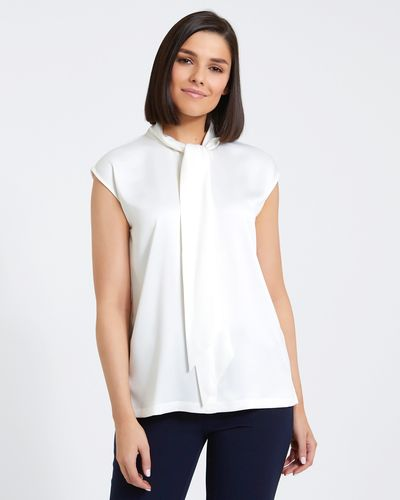 Paul Costelloe Living Studio Ivory Tie Front Top